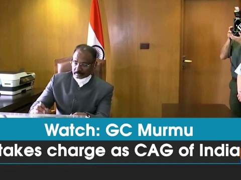 Watch: GC Murmu takes charge as CAG of India