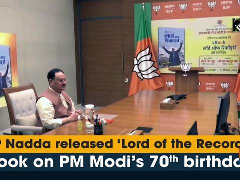 JP Nadda released 'Lord of the Records' book on PM Modi's 70th birthday