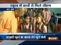 UP CM Yogi Adityanath visits a government school in Etah