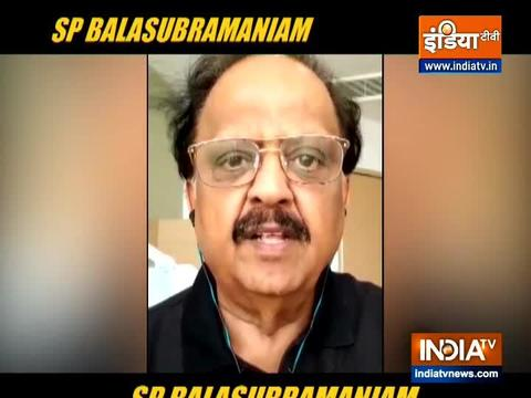 When SP Balasubrahmanyam said he was suffering from a very mild attack of coronavirus