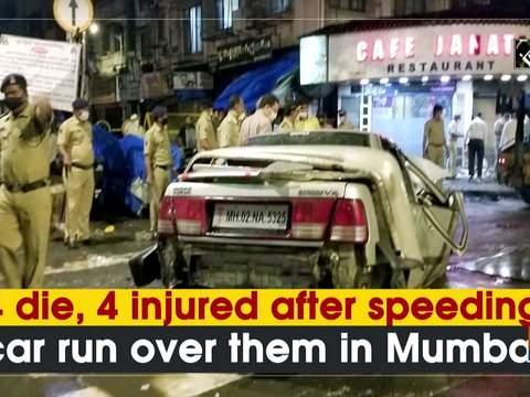 4 die, 4 injured after speeding car run over them in Mumbai