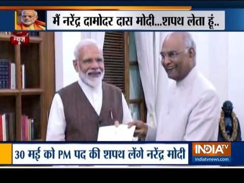 30 मई को प्रधानमंत्री पद की शपथ लेंगे नरेंद्र मोदी