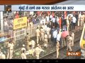 Maratha Reservation Protests: Maratha Kranti Morcha workers block local train in Thane