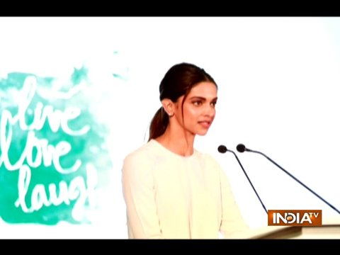 Deepika Padukone bats for mental health awareness at The Live Love Laugh Foundation event