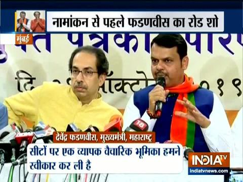 CM Fadnavis and Uddhav Thackeray addresses a joint press conference