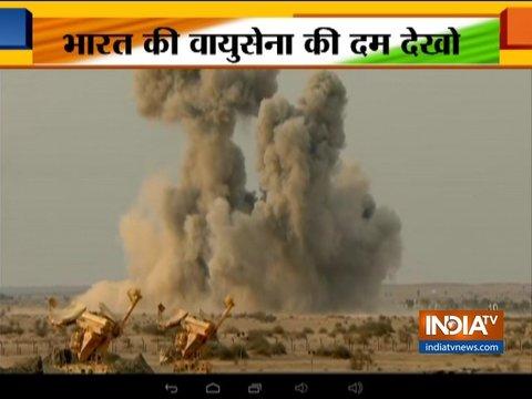 भारतीय वायुसेना ने पोखरण रेंज में किया युद्धाभ्यास, मिग-21, सुखोई-30 जैसे लड़ाकू विमानों ने लिया हिस्सा