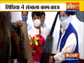 Jyotiraditya Scindia takes charge as the Minister of Civil Aviation