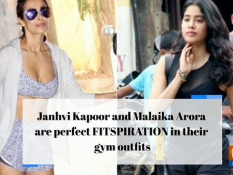 Janhvi Kapoor and Malaika Arora are perfect FITSPIRATION in their gym outfits