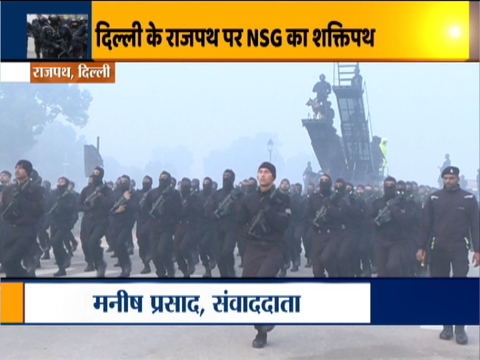 NSG commandos contingent rehearsed at Rajpath ahead of Republic Day