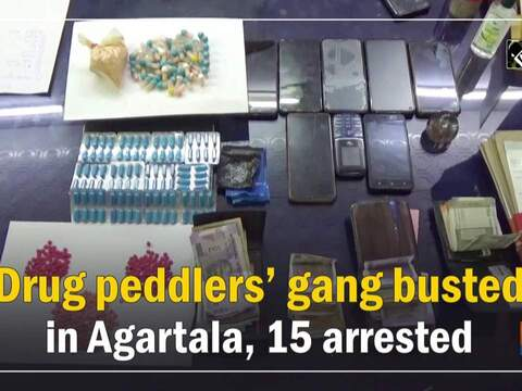 Drug peddlers' gang busted in Agartala, 15 arrested