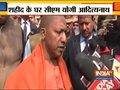 Pulwama Attack: CM Yogi Adityanath meets family of martyr CRPF jawan Vijay in Gonda