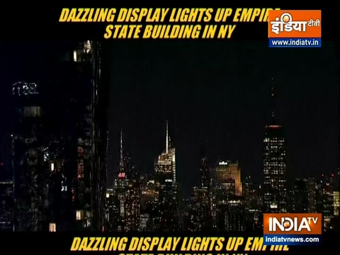 Dazzling display lights up Empire State Building