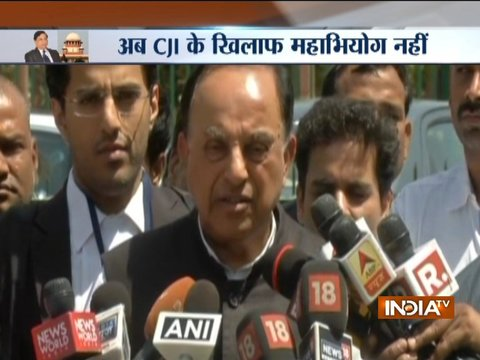 Subramanian Swamy slams Congress after VP Naidu rejects Impeachment Motion against CJI
