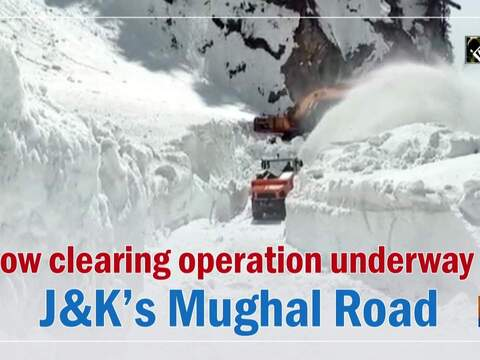 Snow clearing operation underway on J&K's Mughal Road