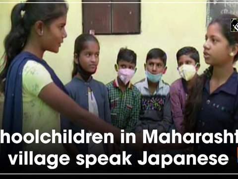 Schoolchildren in Maharashtra village speak Japanese