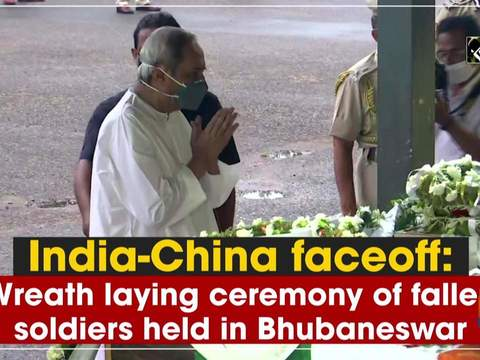 India-China faceoff: Wreath laying ceremony of fallen soldiers held in Bhubaneswar