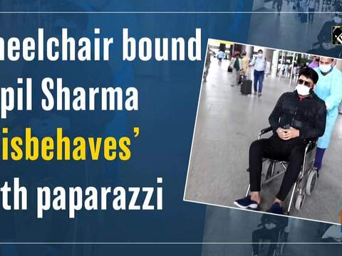 Wheelchair bound Kapil Sharma 'misbehaves' with paparazzi