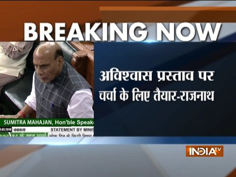 No-confidence motion: Govt ready for discussion, says Rajnath Singh