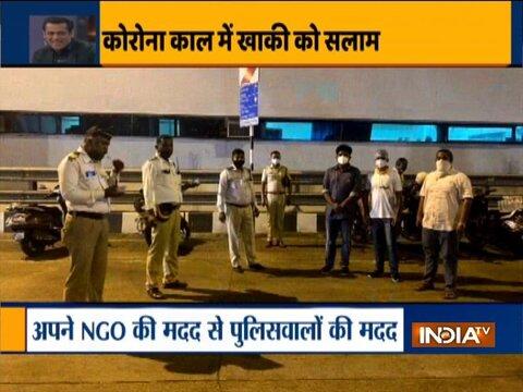 Maharashtra Covid surge: Salman Khan's NGO helps Mumbai Police with food