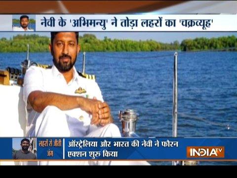 हिन्द महासागर में फंसे नेवी कमांडर अभिलाष टॉमी को भारतीय नौसेना ने बचाया