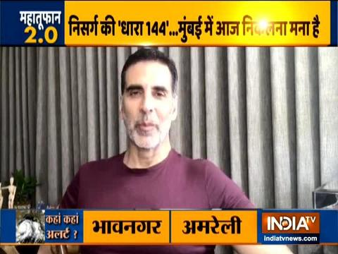 Akshay Kumar urges Mumbaikars to take precautions against cyclone Nisarga