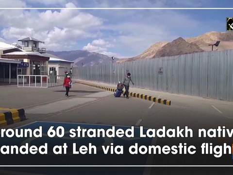 Around 60 stranded Ladakh native landed at Leh via domestic flight