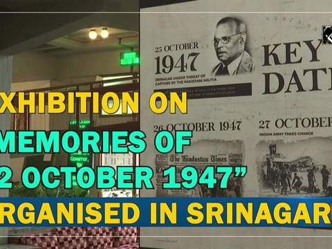 "Exhibition on ""Memories of 22 October 1947"" organised in Srinagar"