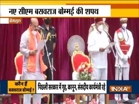 Breaking News: Basavaraj Bommai takes oath as Chief Minister of Karnataka