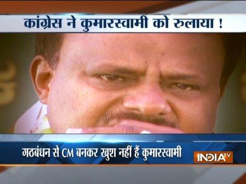 गठबंधन सरकार पर CM कुमारस्वामी के छलके आंसू, कहा- मैं खुश नहीं, विषकंठ बनकर पी रहा हूं जहर