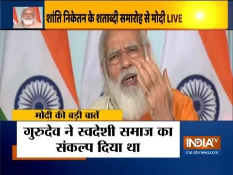 PM Modi addresses centenary celebrations of Visva-Bharati University via video conferencing