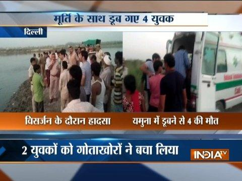 4 boys drown in Yamuna during immersion