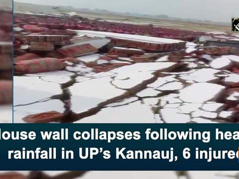 House wall collapses following heavy rainfall in UP's Kannauj, 6 injured