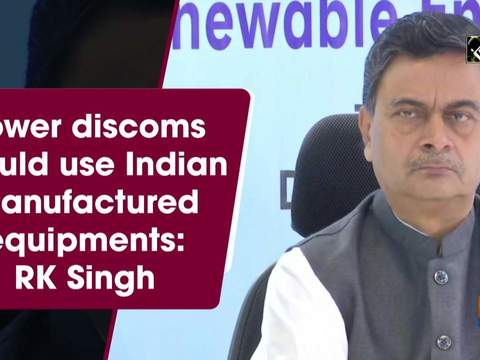 Power discoms should use Indian manufactured equipments: RK Singh