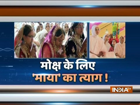 Young girls give up luxurious life to become jain monk