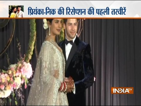 First picture of Priyanka Chopra and Nick Jonas at their reception at Taj Palace in Delhi