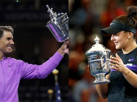 US Open: Rafa Nadal, Bianca Andreescu take top honours in New York