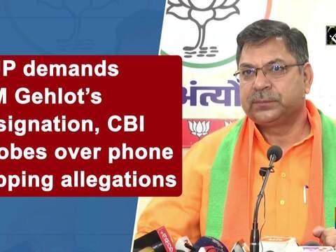 BJP demands CM Gehlot's resignation, CBI probes over phone tapping allegations