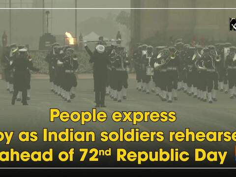 People express joy as Indian soldiers rehearse ahead of 72nd Republic Day