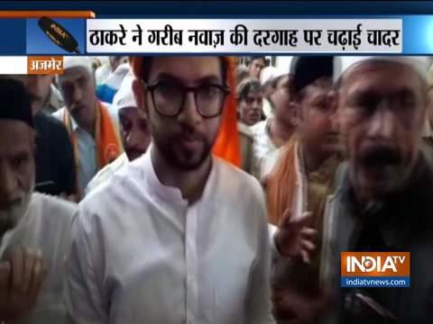 Yuva Sena Chief Aditya Thackeray Offers 'Chadar' at Ajmer Dargah