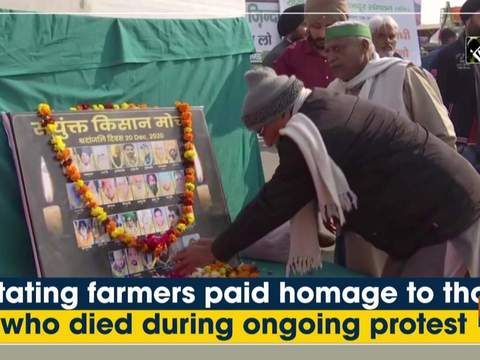 Agitating farmers paid homage to those who died during ongoing protest