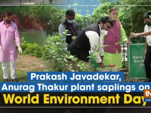 Prakash Javadekar, Anurag Thakur plant saplings on World Environment Day