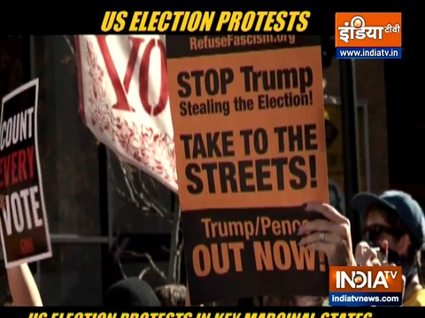 US election protests in key marginal states