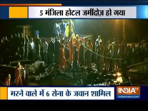 हिमाचल: सोलन में बहुमंजिला होटल गिरने से 6 सेना के जवानों की मौत, कई मलबे में फंसे