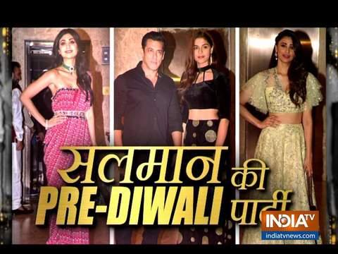 Salman Khan, Shilpa Shetty attend pre Diwali bash