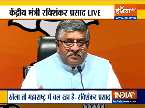 What's happening in Maharashtra is not 'vikas' it is 'vasooli': Ravi Shankar Prasad
