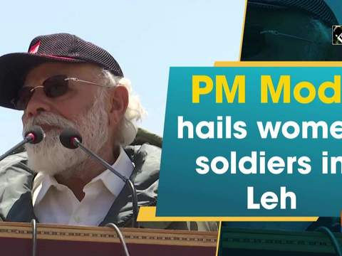 PM Modi hails women soldiers in Leh