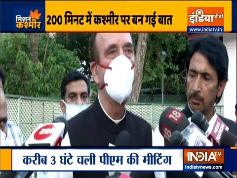 गृहमंत्री ने कहा कि सरकार जम्मू-कश्मीर को राज्य का दर्जा देने के लिए प्रतिबद्ध है: गुलाम नबी आजाद