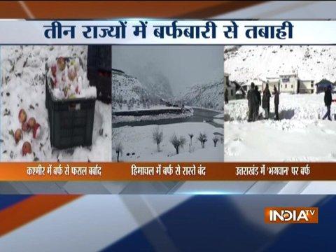Heavy snowfall lashes Kashmir, Himachal, Uttarakhand