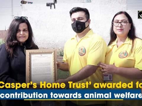 'Casper's Home Trust' awarded for contribution towards animal welfare