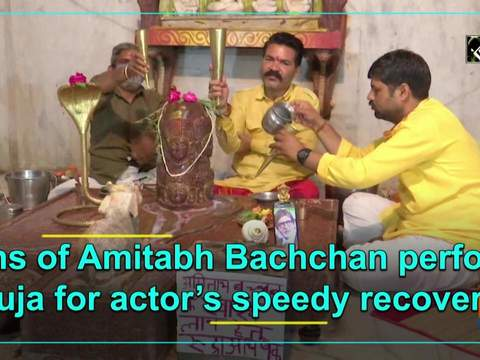 Fans of Amitabh Bachchan perform puja for actor's speedy recovery